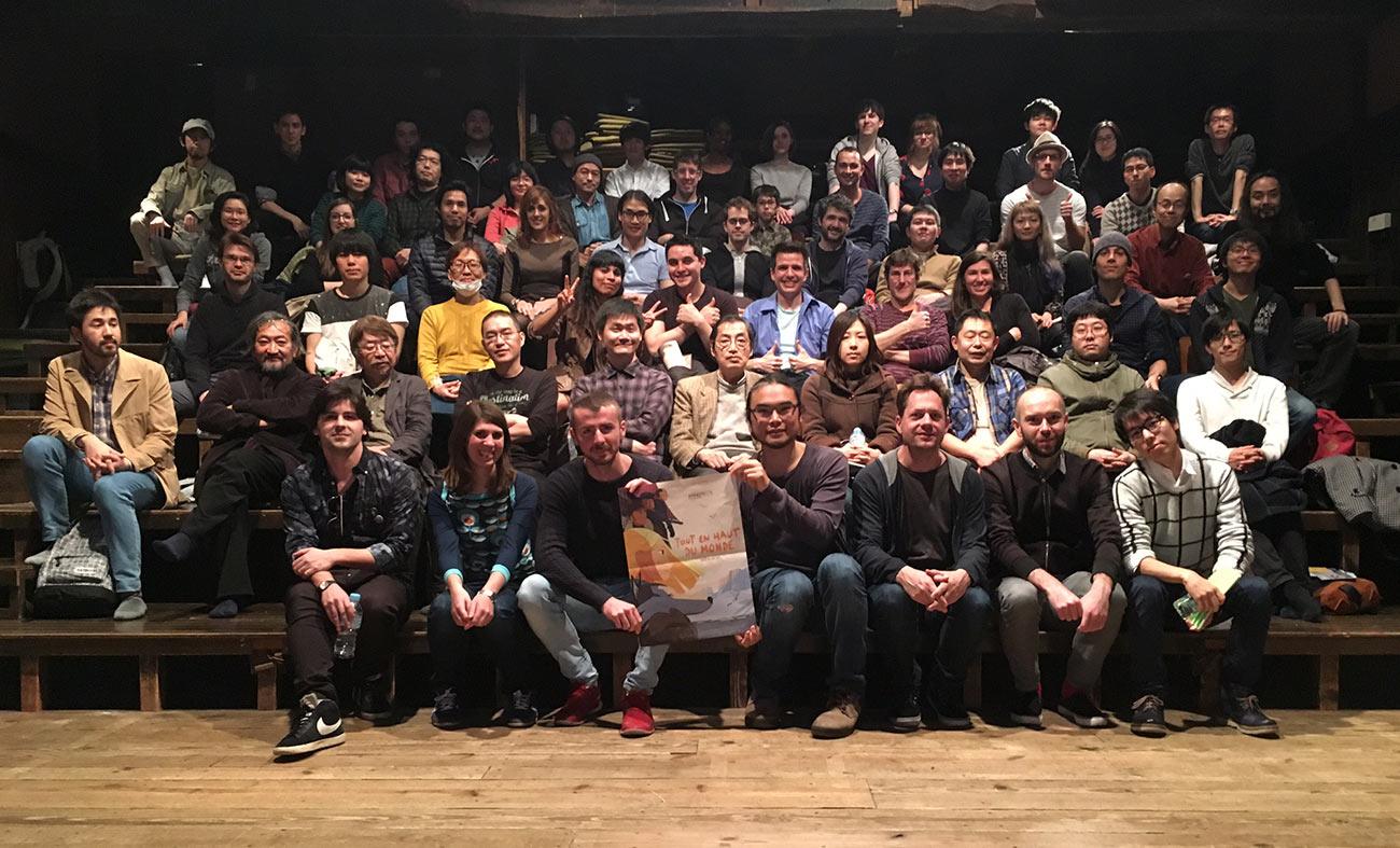 Screening of Long Way North at Cinema Laputa in Tokyo.