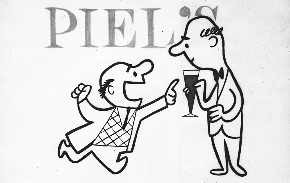 Piels Beer ad by United Productions of America, ca. 1955.