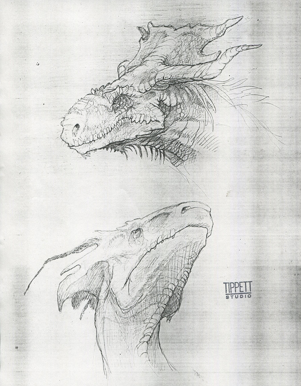 Some of Tippett Studio's original designs for Draco.