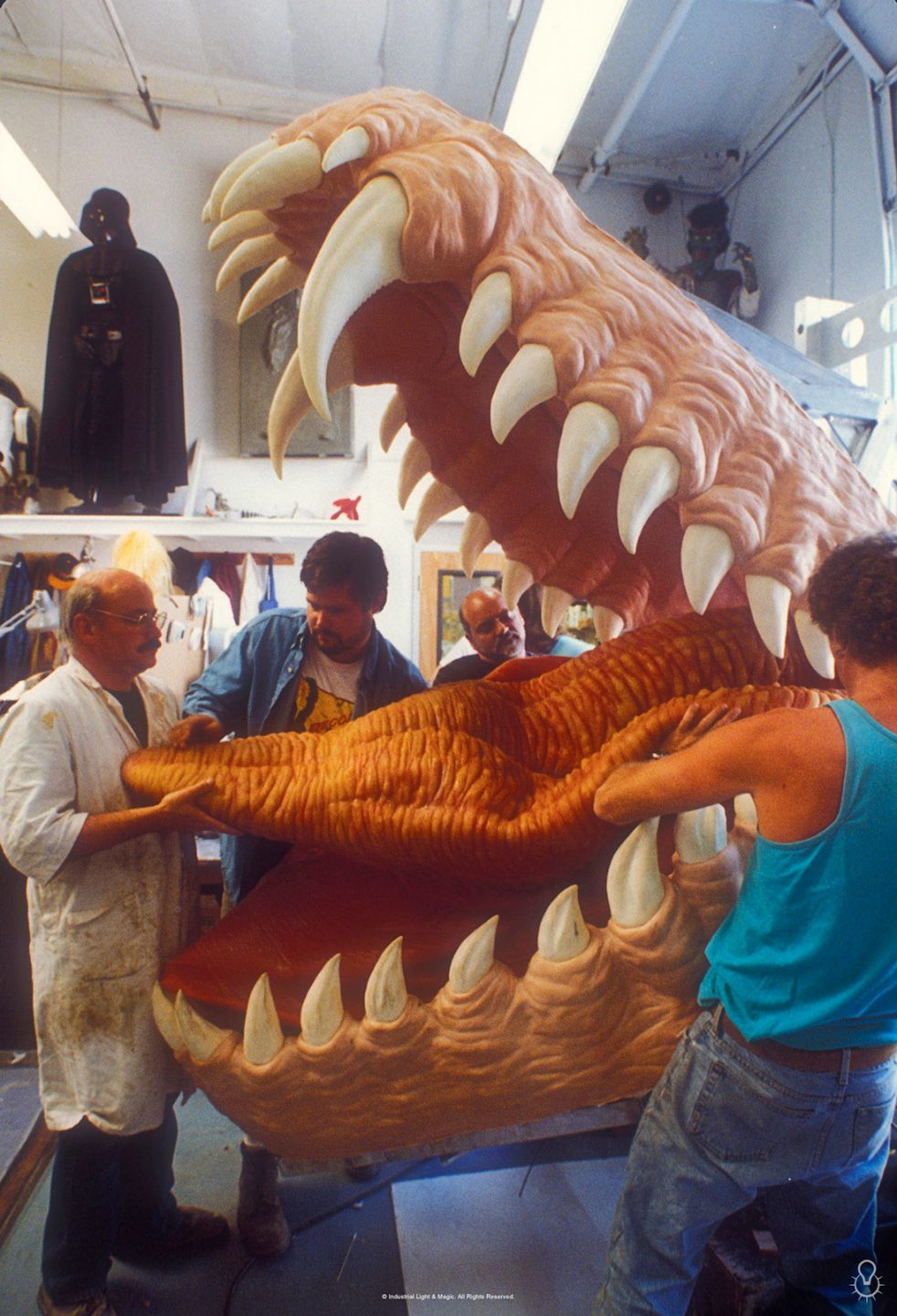ILM's Model Shop made a practical dragon piece for a scene of Bowen inside Draco's mouth.