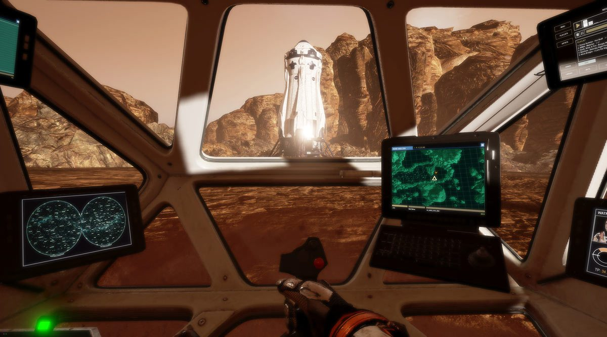"A still from ""The Martian"" VR experience, which was teased at CES and is intended to be available on tethered VR platforms later this year."