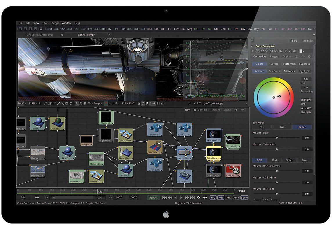 The Fusion 8 workflow.