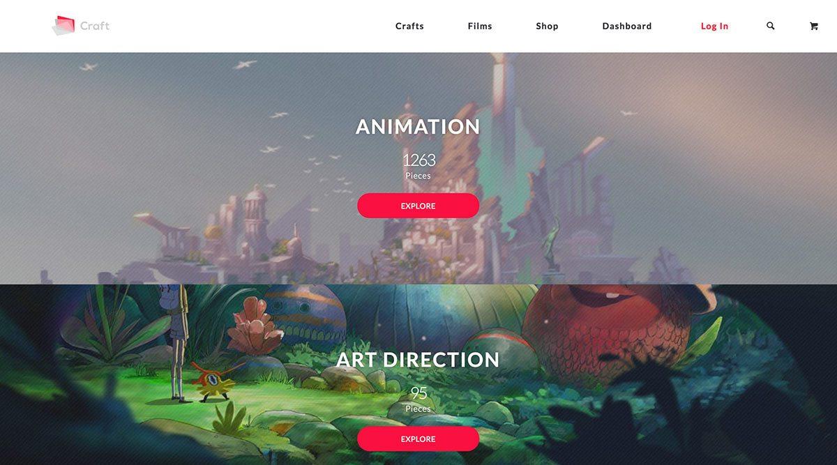 A screenshot from the Craft website.