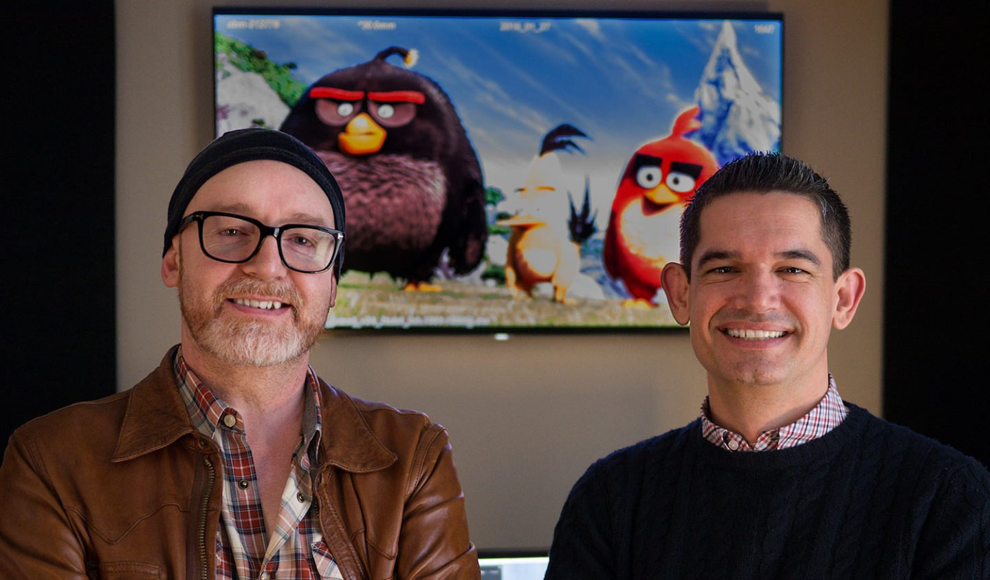 """Angry Bird Movie"" directors Fergal Reilly (l.) and Clay Kaytis."