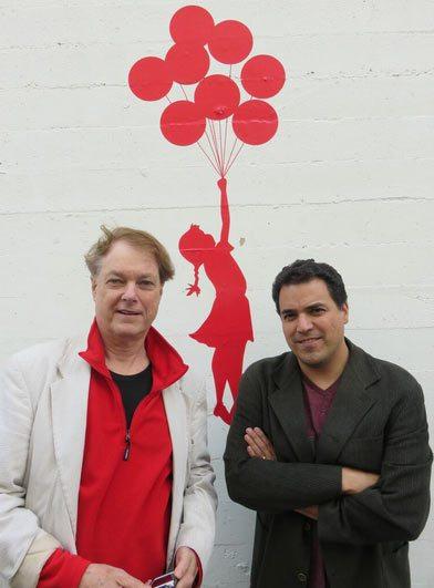 Bill Plympton (left) and Jim Lujan.