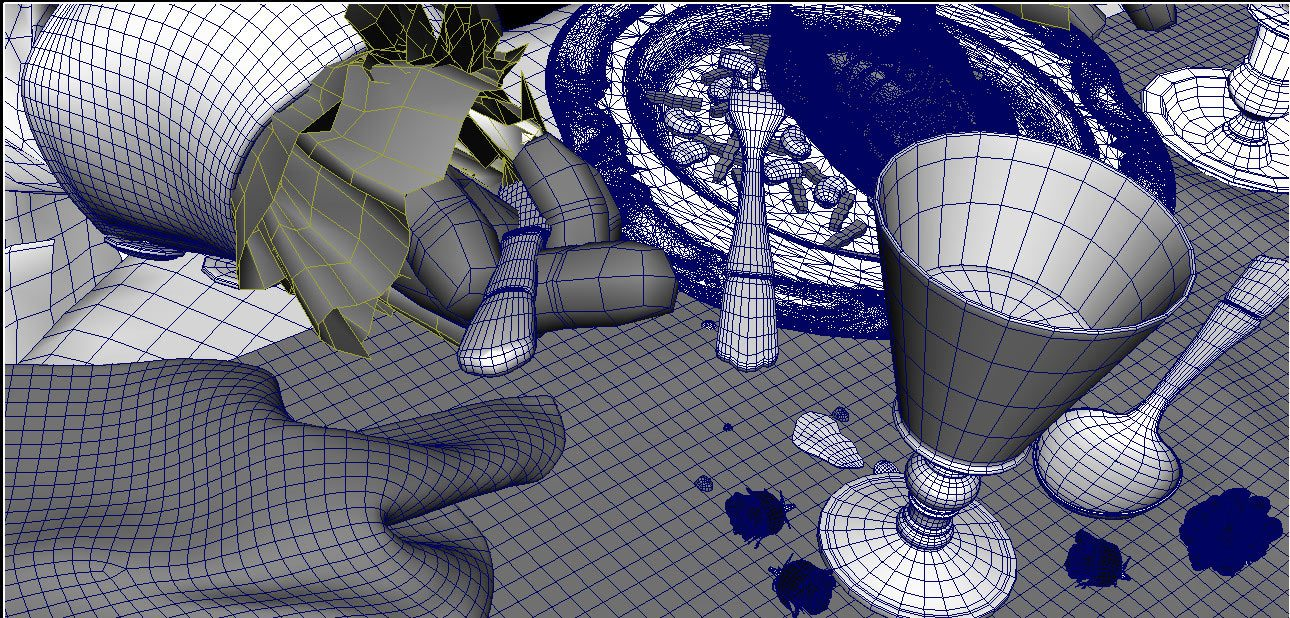 "Wireframe view from the production of ""Symphony of Two Minds."""