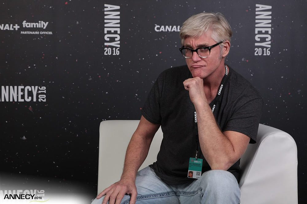 """Ren & Stimpy"" creator John Kricfalusi debuted  ""Cans Without Labels"" at Annecy this year. (Photo : E. Perdu/CITIA)"