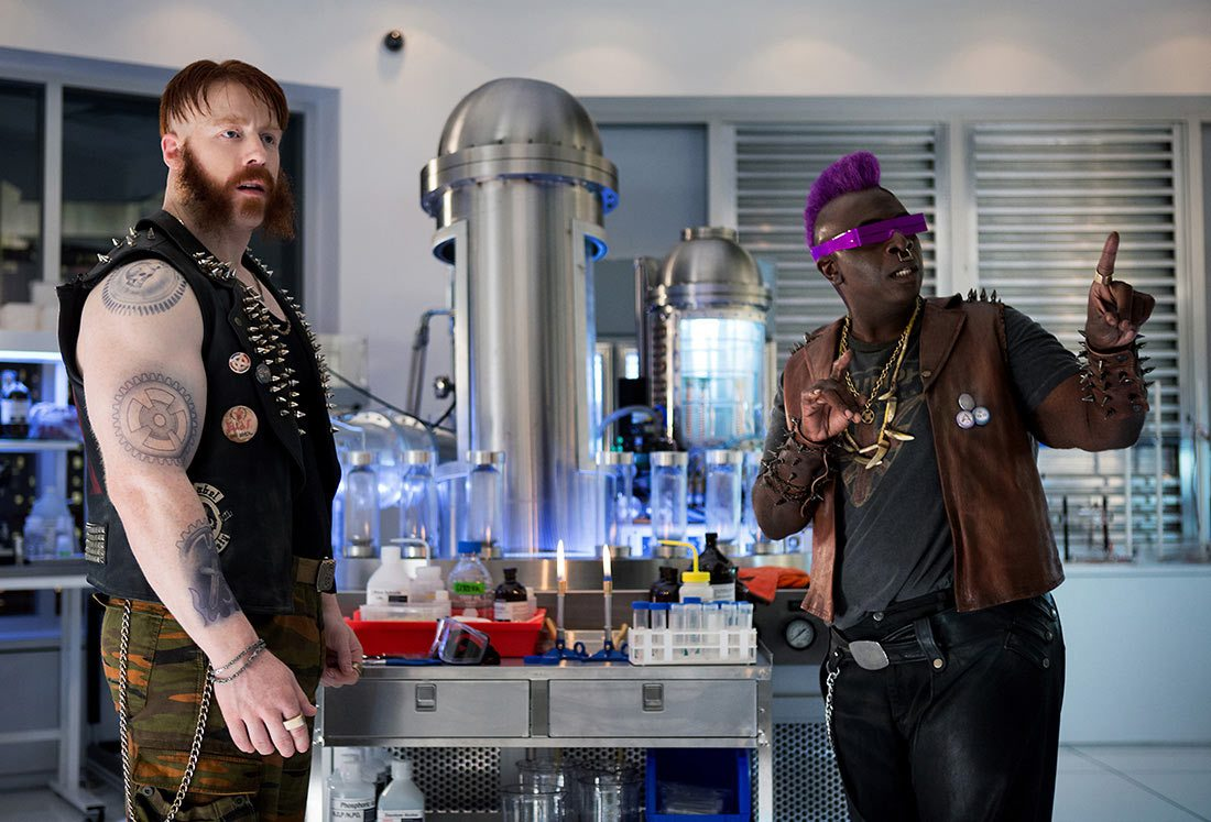 Stephen 'Sheamus' Farrelly (left) and Gary Anthony Williams play Rocksteady and Bebop, respectively.