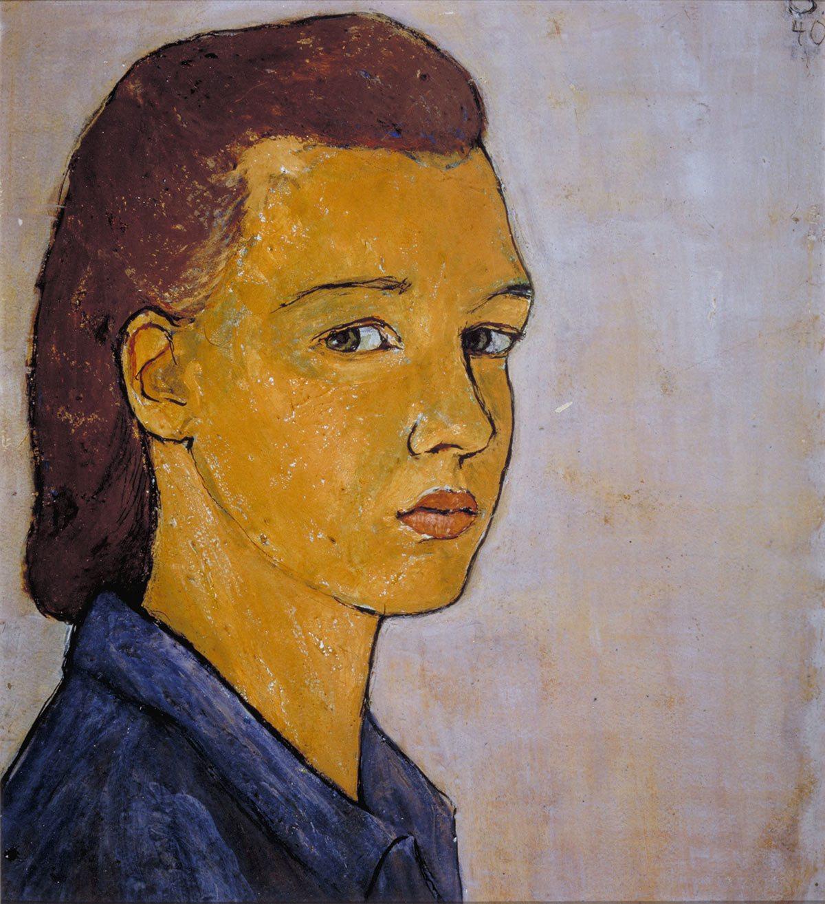 Self-portrait by Charlotte Salomon.