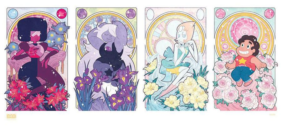 This Steven Universe and the Crystal Gems print by Missy Pena is an example of the type of fan art that will be sold on Cartoon Network Collective.