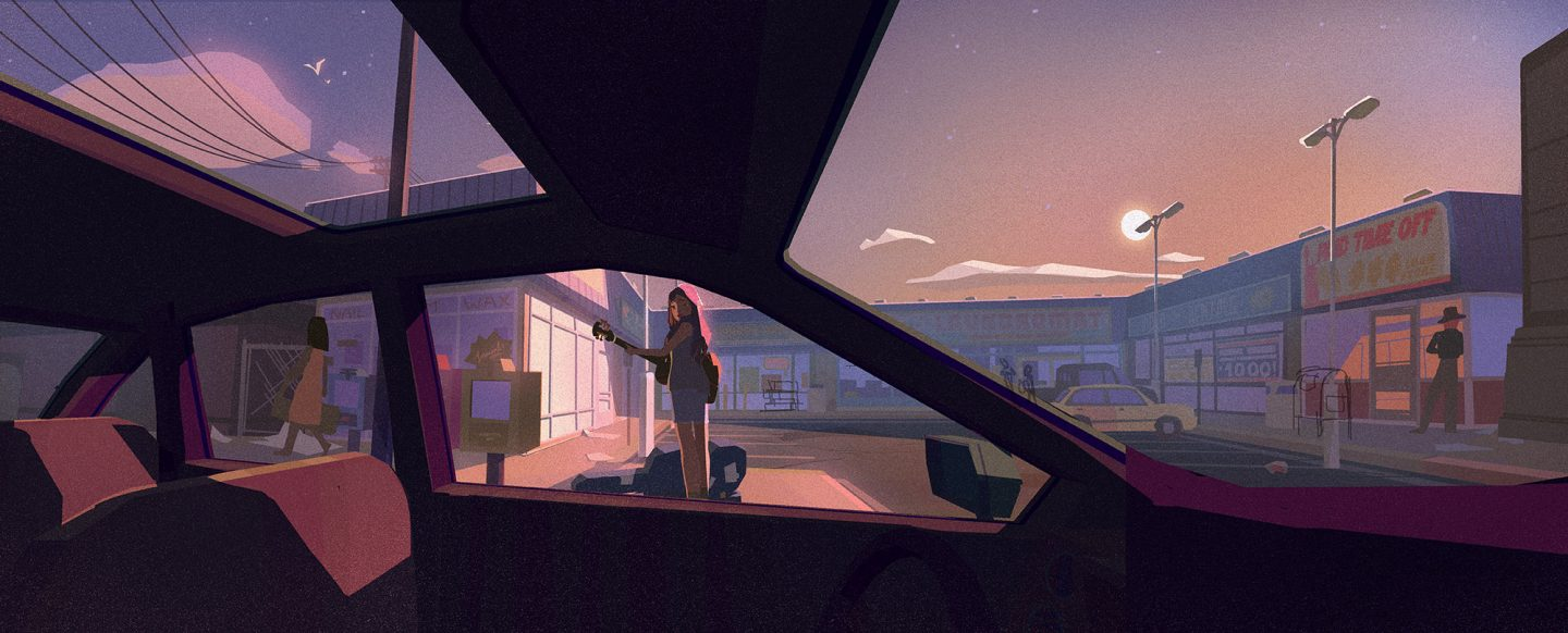 Concept painting by production designer Tuna Bora.