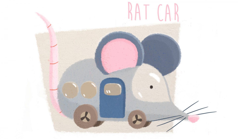 """""""Rat Car"""" by Yijun Liu."""