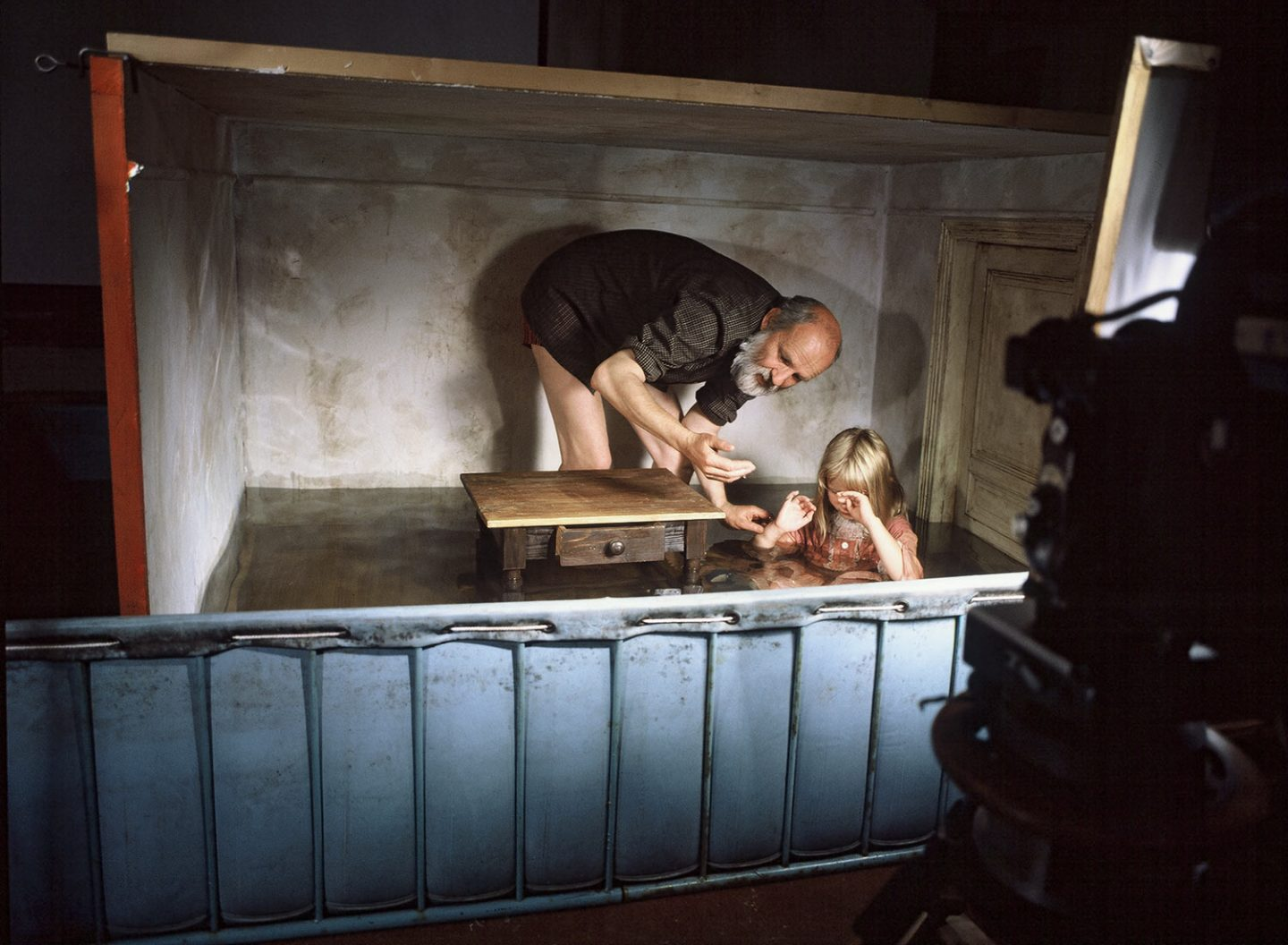 """Behind the scenes of """"Alice,"""" Svankmajer's first feature film. Photo credit: Athanor."""