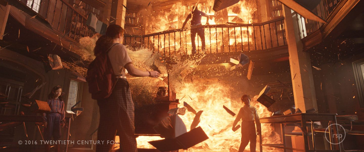 A final shot of Rising Sun Pictures' pyro and destruction effects.
