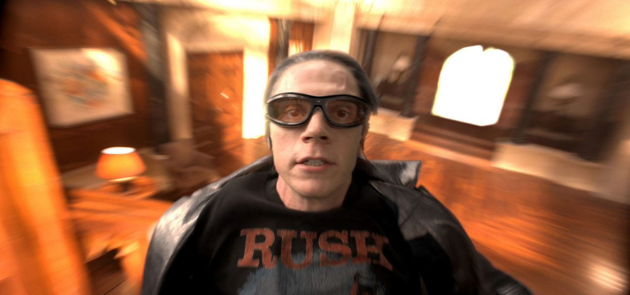 Quicksilver makes a final dash before the mansion is engulfed by the explosion.