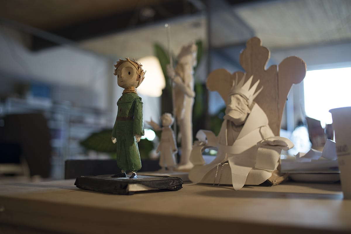 "The paper sculptures used in the stop motion sequences of ""The Little Prince."""
