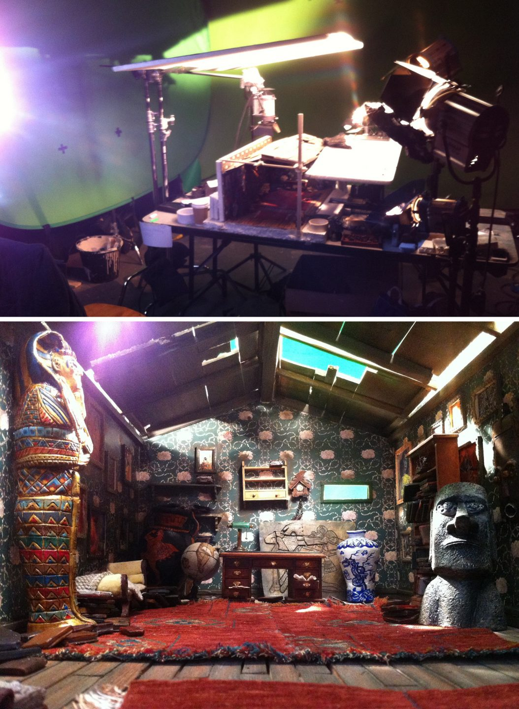 The set for Rene Fustercluck's home.