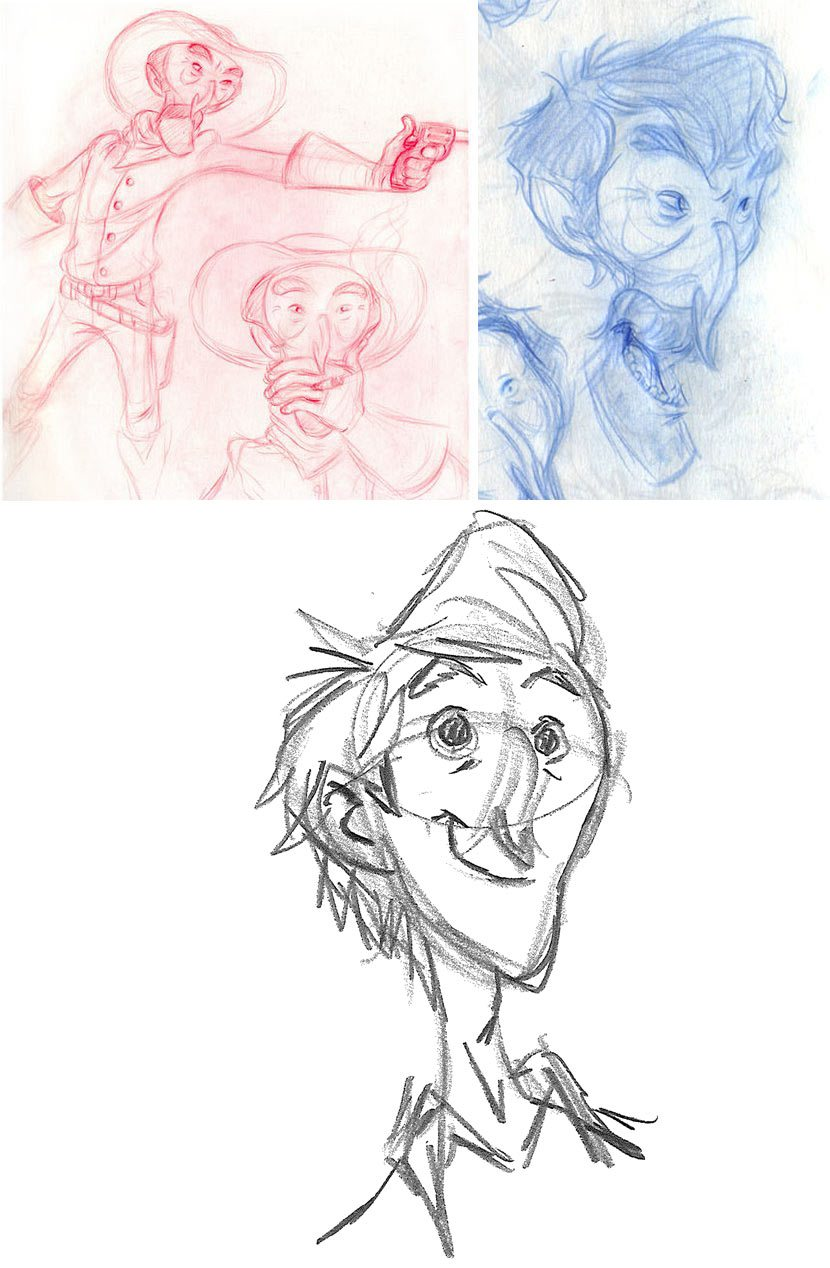 Exploring designs of the film's main character.
