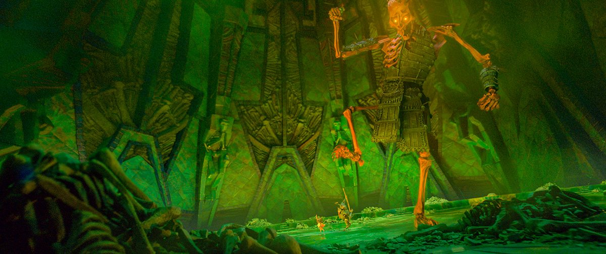 The Giant Skeleton attacks visitors to the Hall of Bones.