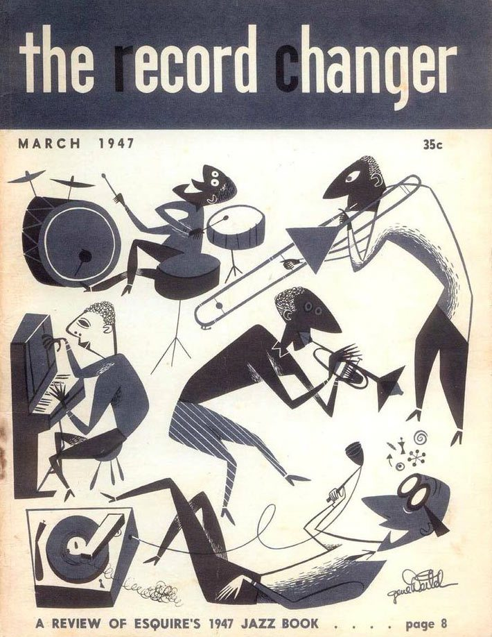 "Before entering animation, Gene drew covers for a jazz magazine called ""The Record Changer."""