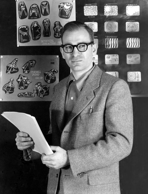 Gene Deitch when he was the creative director of UPA-NY, 1955.