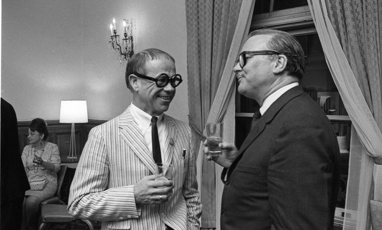 Ward Kimball (l.) and Shamus Culhane. (Photo: Bruno Massenet/The Bruno Massenet fonds of The Cinémathèque québécoise)
