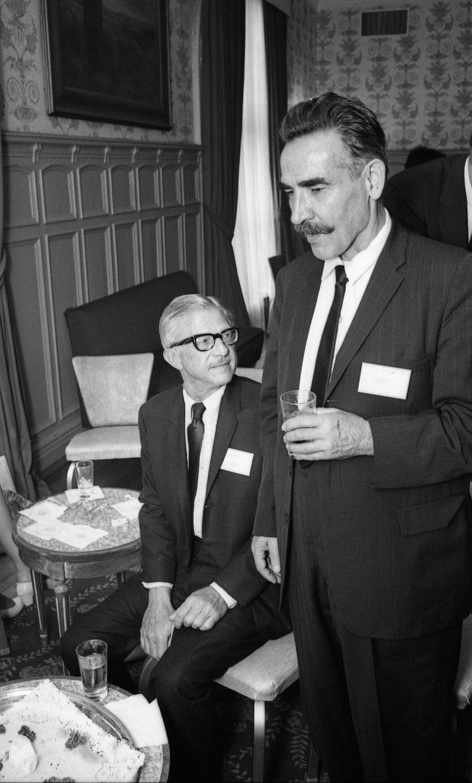 Animators Art Babbitt (seated) and Bill Tytla. (Photo: Bruno Massenet/The Bruno Massenet fonds of The Cinémathèque québécoise)