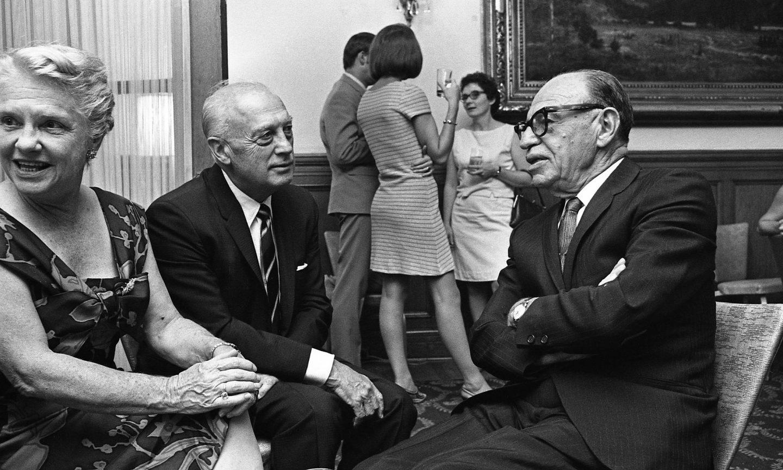 Grace Stafford Lantz, Walter Lantz, and Dave Fleischer. (Photo: Bruno Massenet/The Bruno Massenet fonds of The Cinémathèque québécoise)