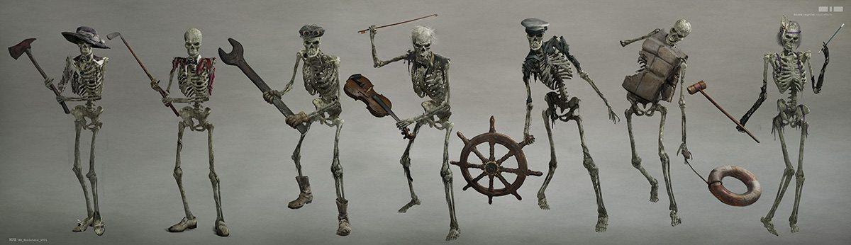 Individual skeleton designs.