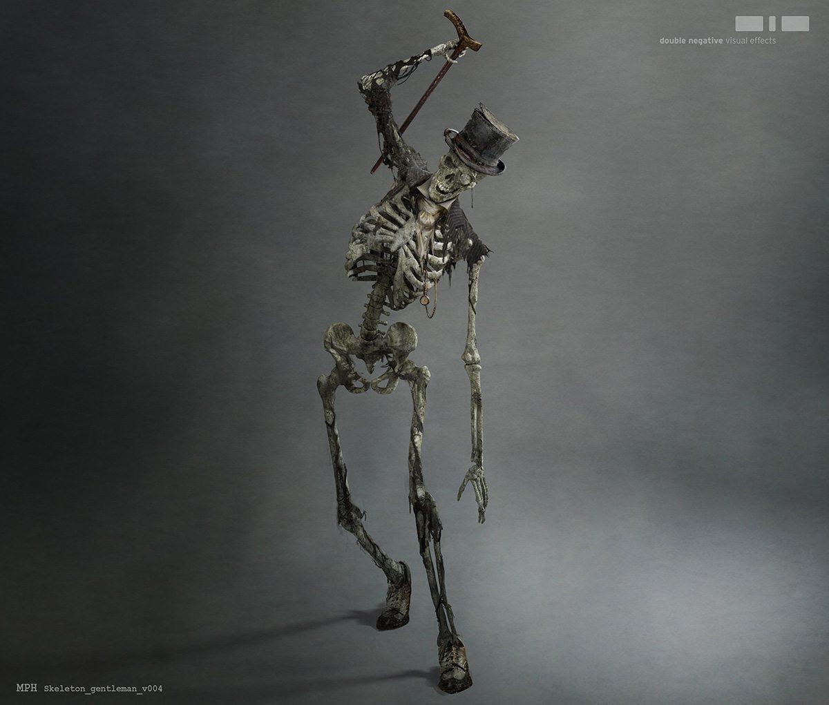 Double Negative's skeleton design for the 'gentleman.'