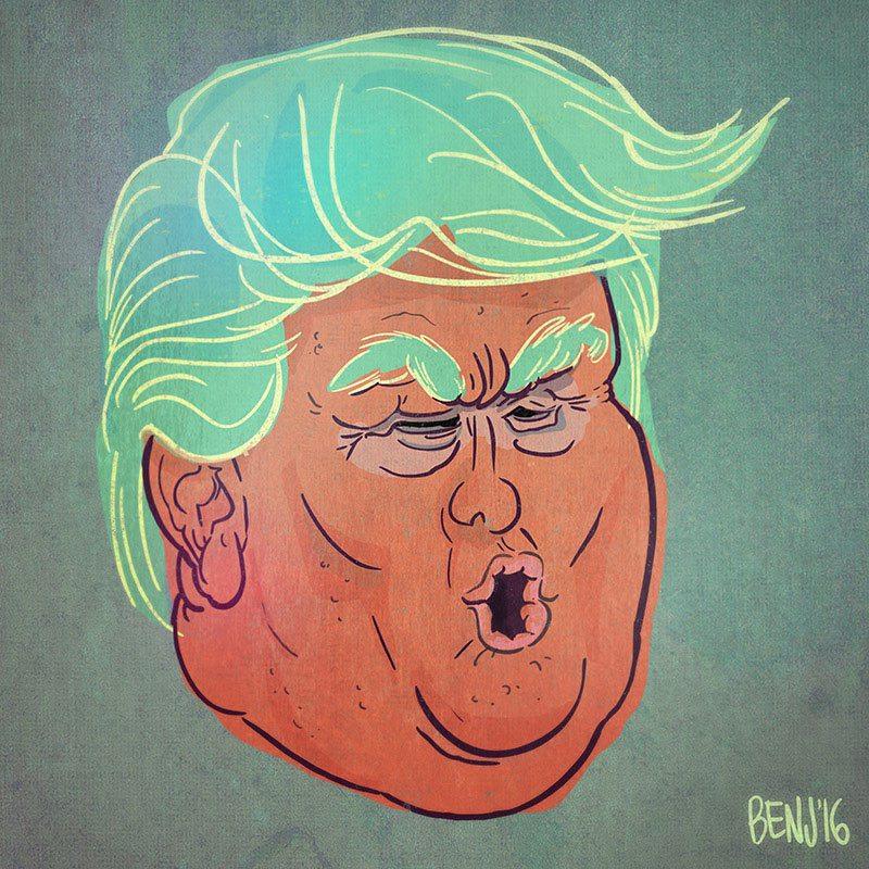 Donald Trump by Benjamin Arcand.
