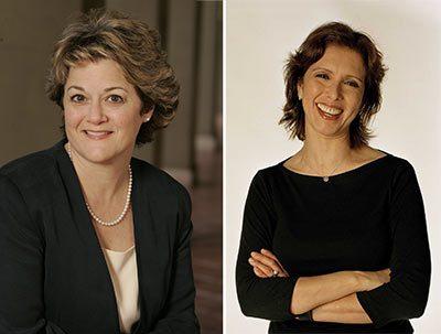 Bonnie Arnold (left) and Mireille Soria.