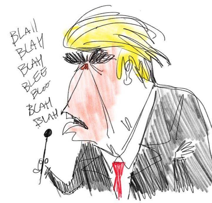 Donald Trump by Colin Jack.
