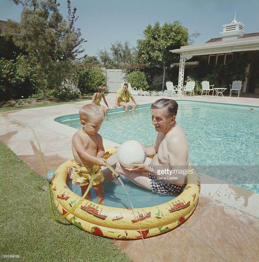 Walt Disney with grandson.