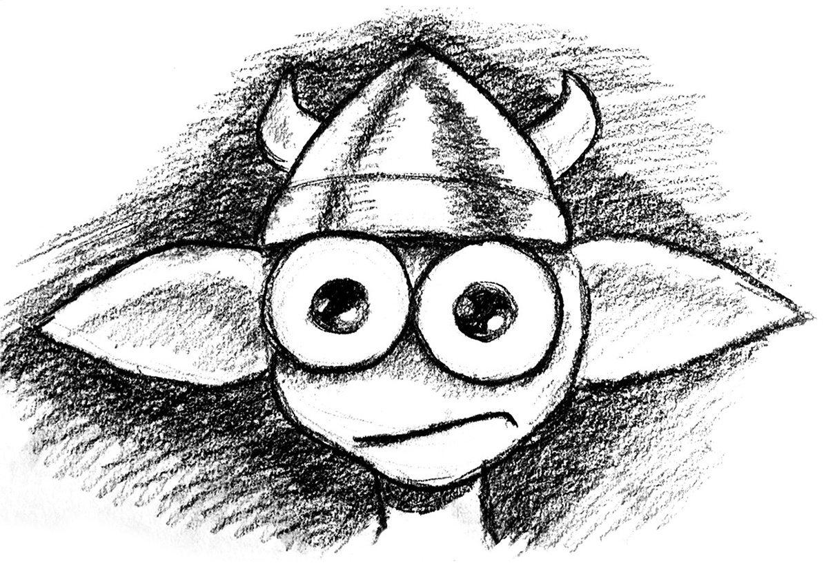 A sketch of the goblin by Jon Favreau. Copyright Jon Favreau and Wevr.