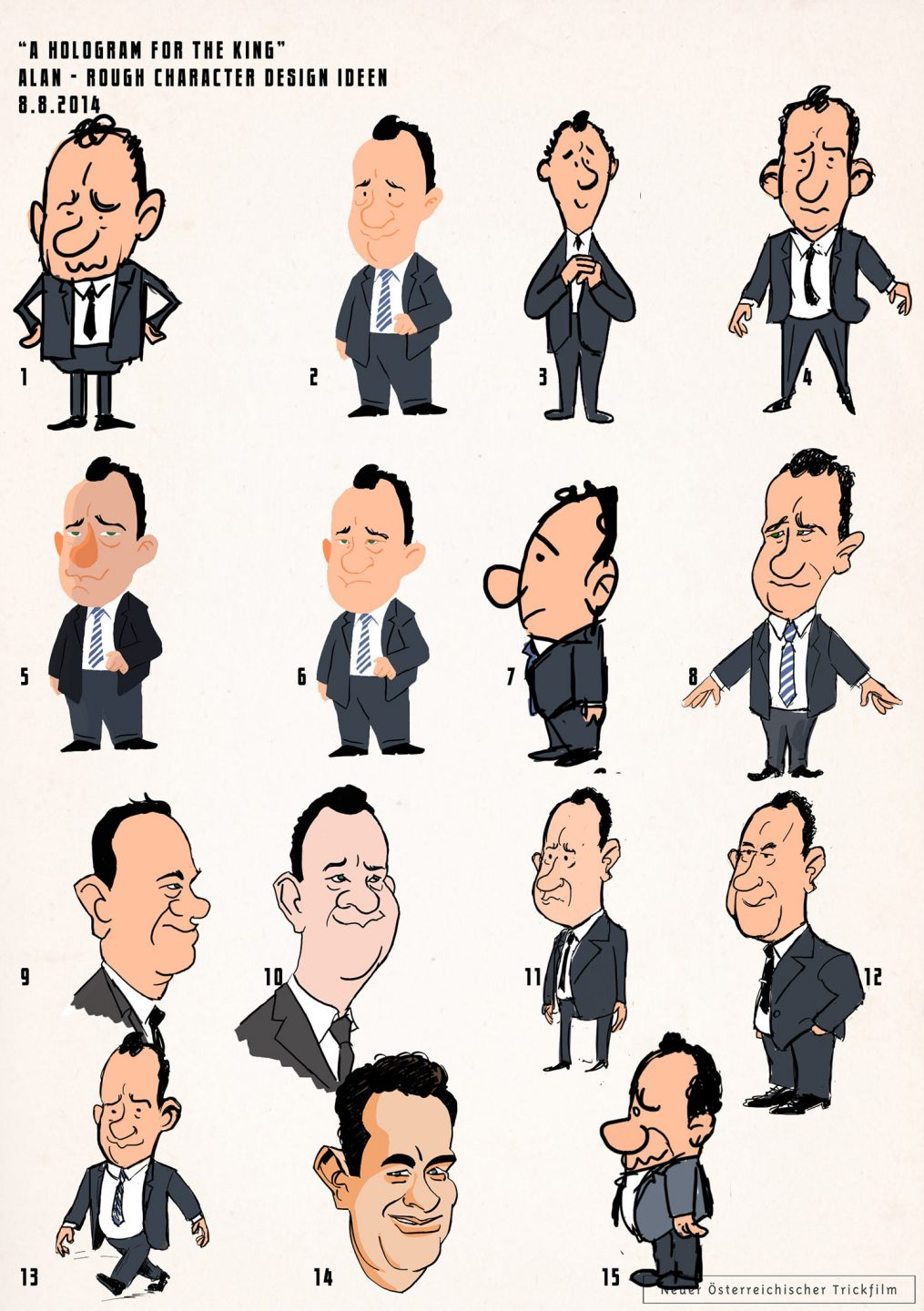 Tom Hanks character design by Benjamin Swiczinsky.