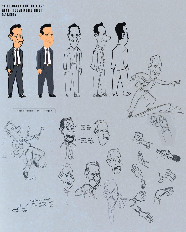 Tom Hanks character design by Benjamin Swiczinsky.