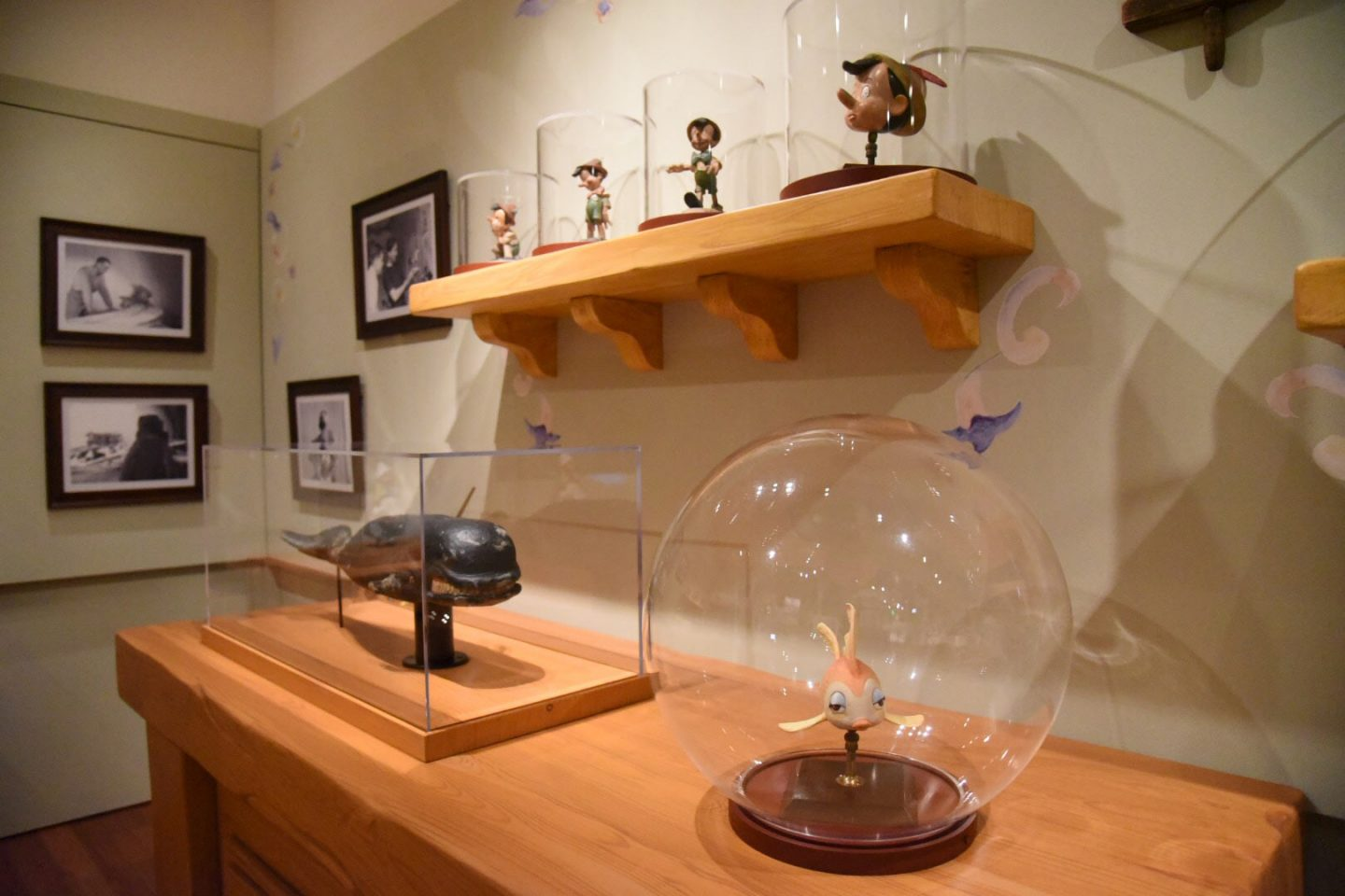The Gepetto's Workshop section of the exhibit displays original maquettes created during the production of the film.
