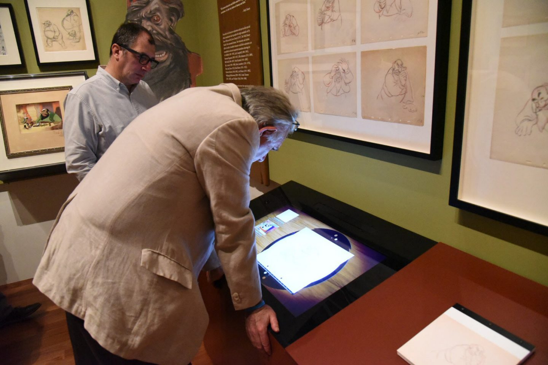 Video installation at the Pinocchio exhibit.