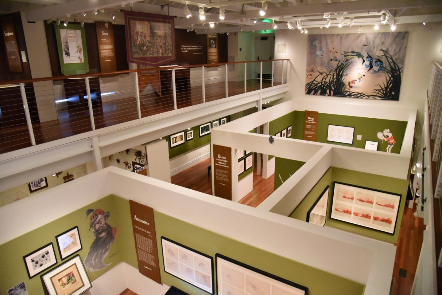 Overview of the exhibition at the Walt Disney Family Museum.