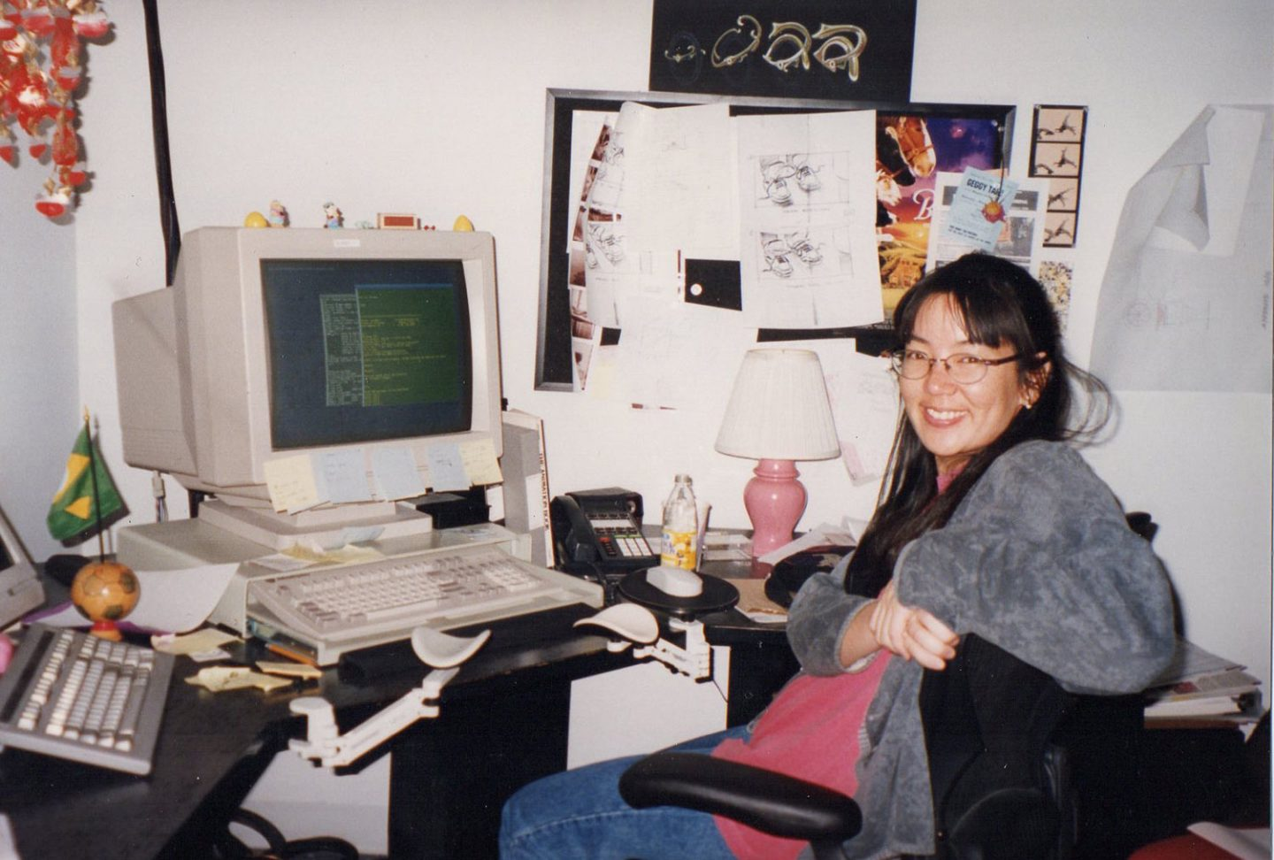 Nancy Kato at Rhythm & Hues, 1995.