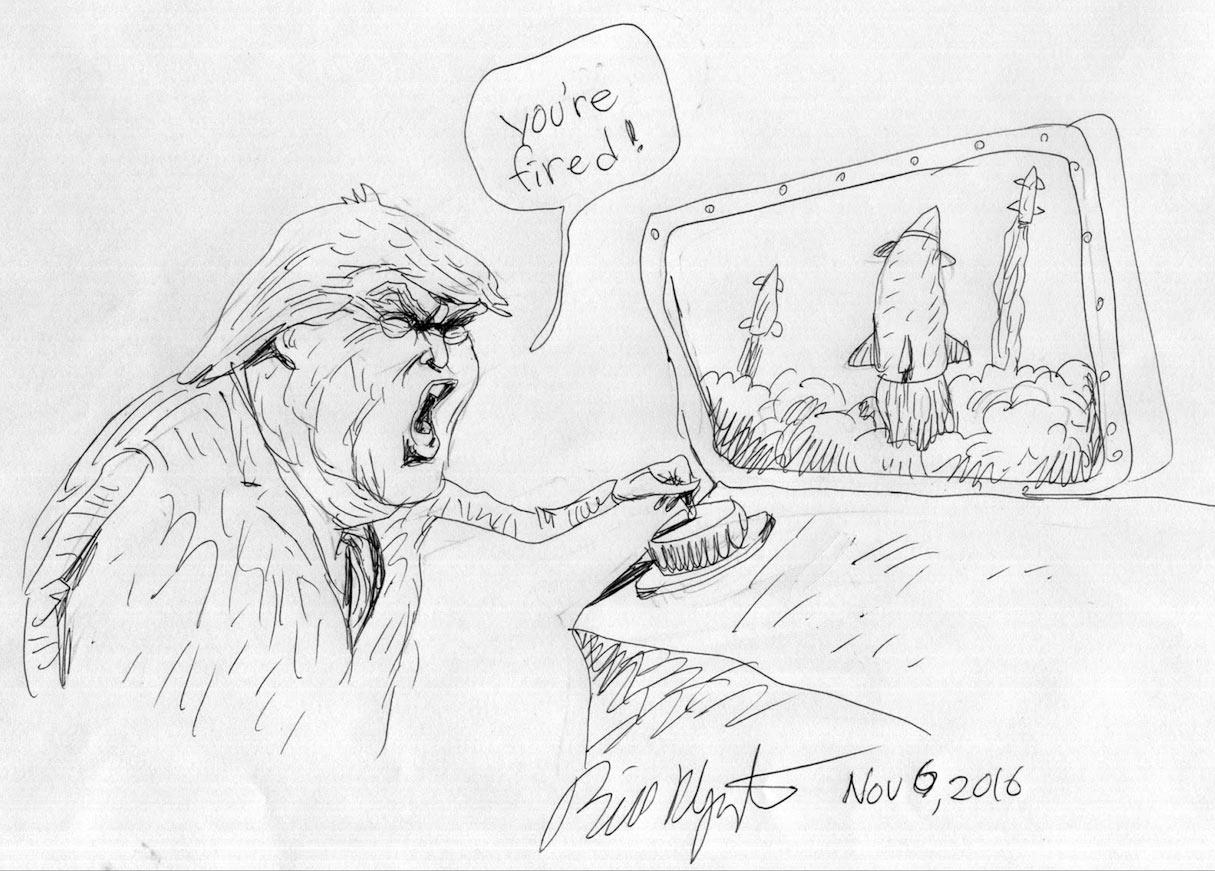 Donald Trump by Bill Plympton.