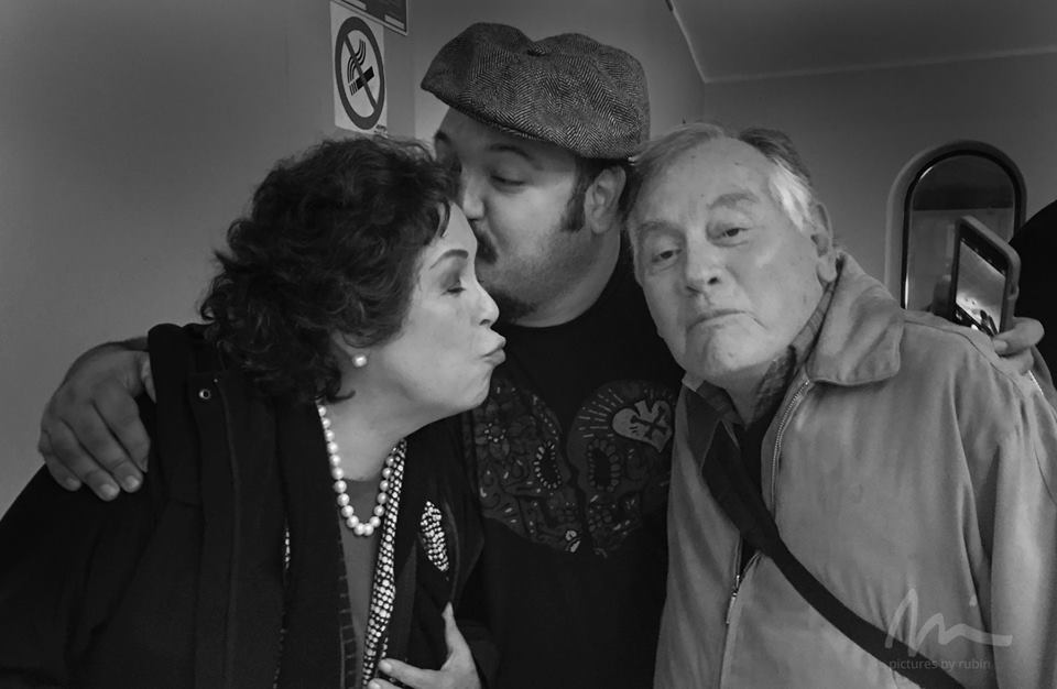 """""""The Book of Life"""" director Jorge Gutierrez with his parents. Photo ©Michael Rubin."""
