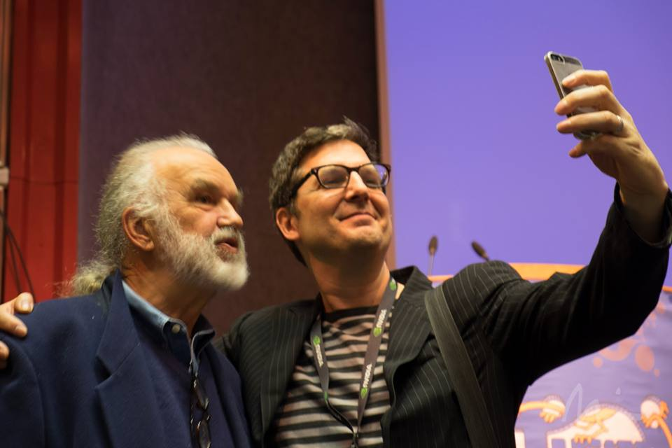 "ILM visual effects artist Lorne Peterson (l.) and ""The Little Prince"" director Mark Osborne. Photo ©Michael Rubin."