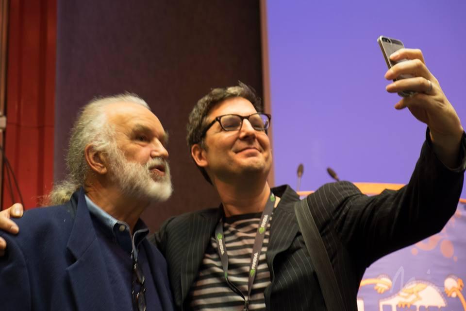 "ILM visual effects artist Lorne Peterson (l.) and ""The Little Prince"" director Mark Osborne. Photo ©Michael Rubin."