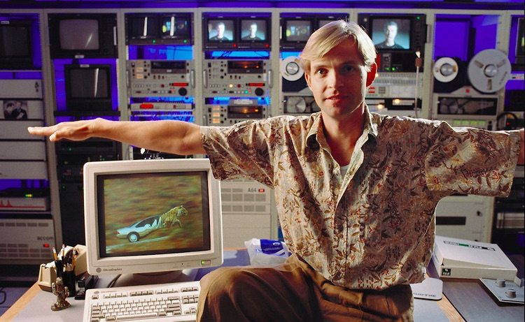 PDI founder Carl Rosendahl in the studio's offices in 1992.