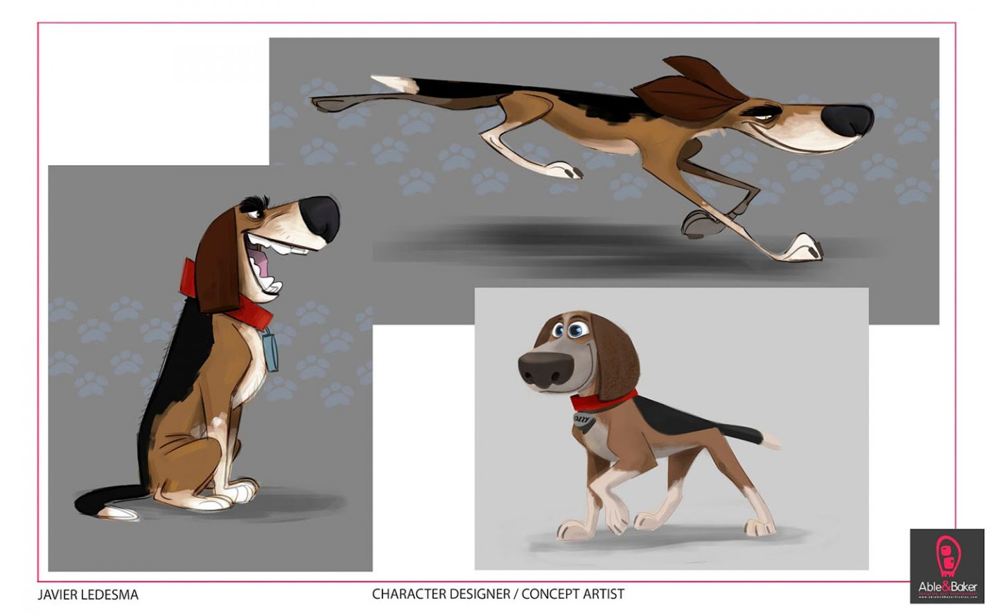 Character design concepts for Ozzy by Javier Ledesma.
