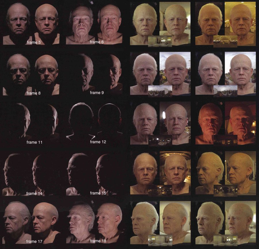 Digital Domain utilized the Light Stage 5 to help build a CG model of an aged Brad Pitt for The Curious Case of Benjamin Button. Image courtesy Paul Debevec.