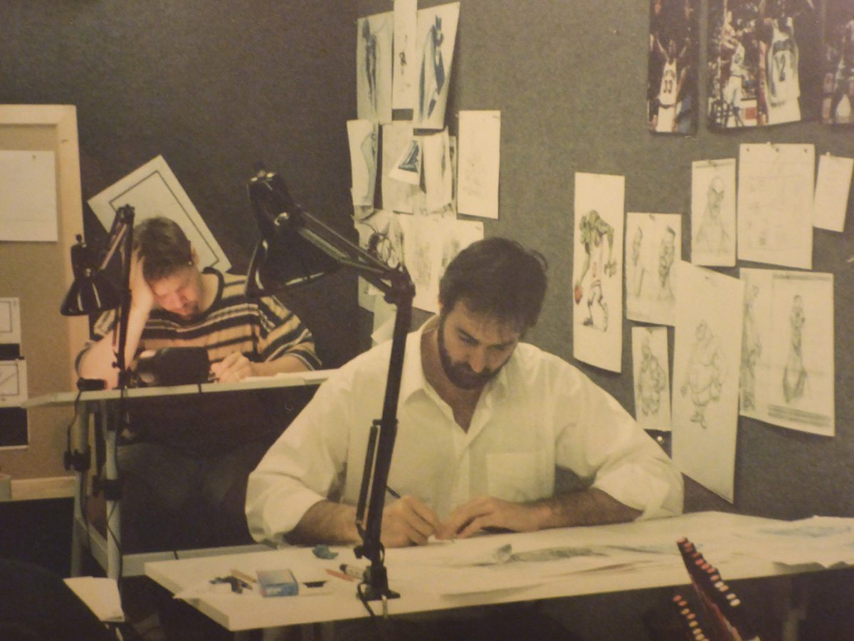 Artists at work. Image courtesy Neil Boyle.