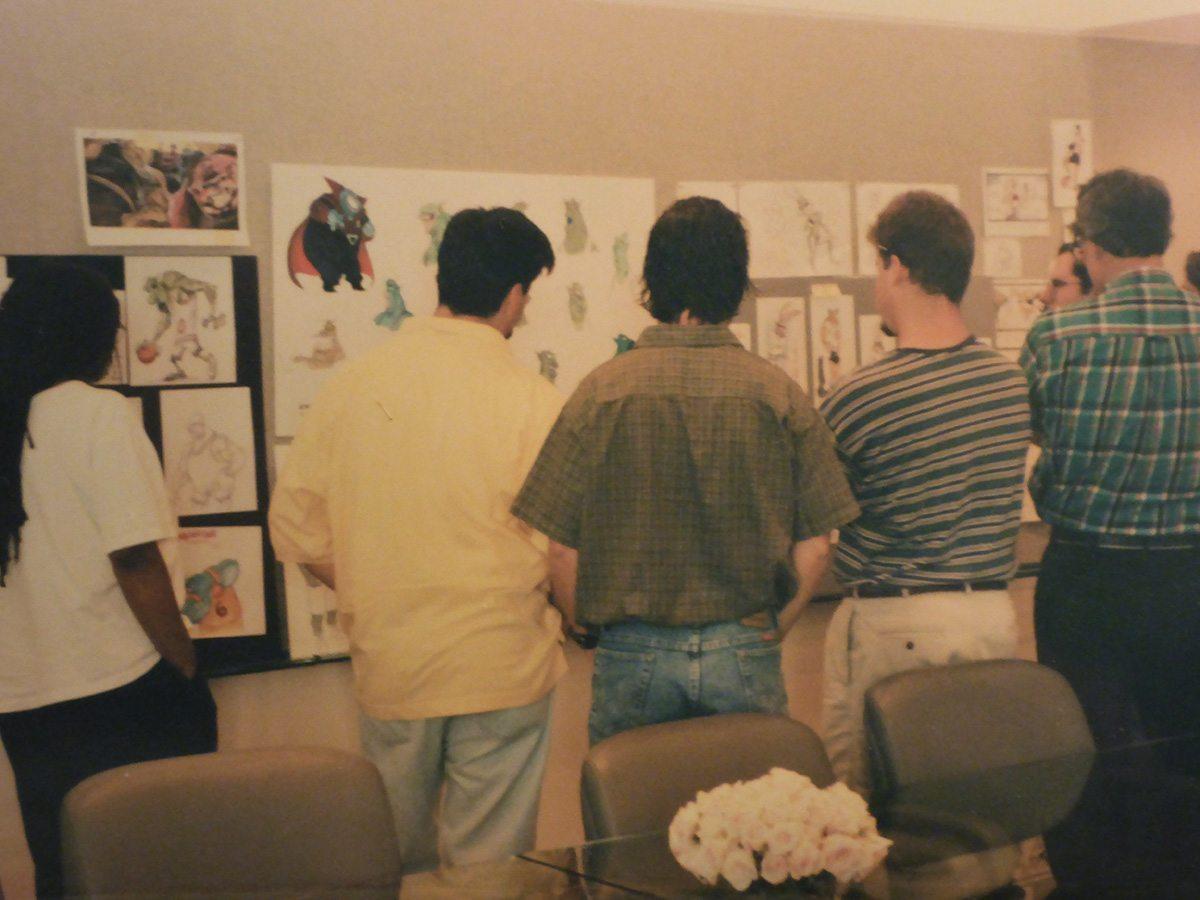 Animators review storyboards. Image courtesy Neil Boyle.